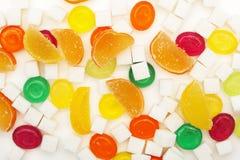 五颜六色的糖果和果冻 库存照片