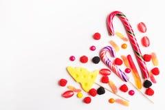 五颜六色的糖果和果冻 免版税库存照片