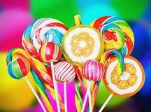 五颜六色的糖果和甜点 免版税库存照片