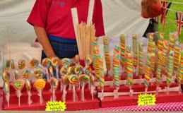 五颜六色的糖果摊位 免版税库存图片