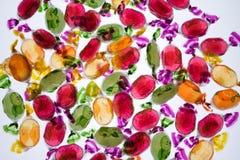 五颜六色的糖果甜点 免版税库存照片