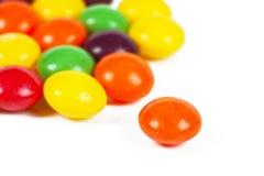 五颜六色的糖衣杏仁 库存图片