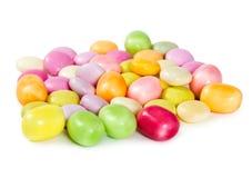 五颜六色的糖衣杏仁糖果 免版税库存照片