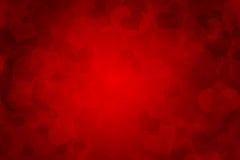 五颜六色的红色抽象背景心脏 库存图片