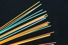 五颜六色的纤维热光学 免版税库存照片