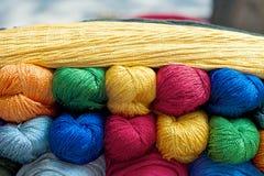 五颜六色的纱线 免版税图库摄影