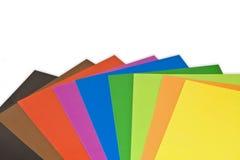 五颜六色的纸张 库存图片