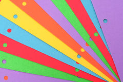 五颜六色的纸张 免版税图库摄影