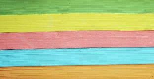 五颜六色的纸张 库存照片