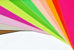 五颜六色的纸张 免版税库存图片