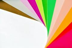 五颜六色的纸张 图库摄影