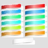 五颜六色的纸标签 向量例证