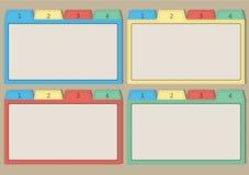 五颜六色的纸模板 库存照片