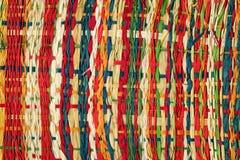 五颜六色的纸织法 库存图片