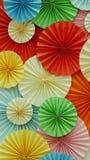 五颜六色的纸装饰 免版税图库摄影