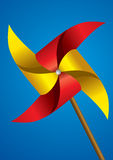 五颜六色的纸风车 免版税库存照片