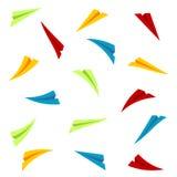 五颜六色的纸飞机 库存图片