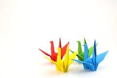 五颜六色的纸鸟 库存照片