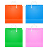五颜六色的纸购物袋 免版税库存图片