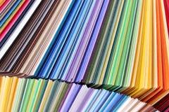五颜六色的纸-颜色样品 库存图片