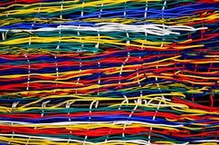 五颜六色的纹理电汇 免版税库存照片