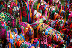 五颜六色的纺织品玩具 库存图片