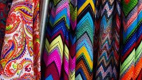 五颜六色的纺织品 图库摄影