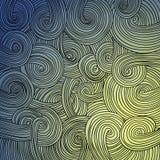 五颜六色的线性波浪纹理 库存图片