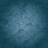 五颜六色的线性波浪纹理 免版税库存照片