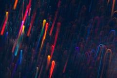 五颜六色的线抽象背景在行动的 免版税库存照片