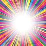 五颜六色的线爆炸背景 免版税图库摄影