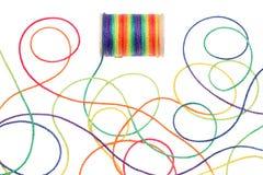 五颜六色的线程数 库存图片