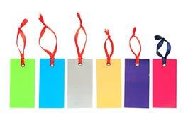 五颜六色的组标签价格贴纸标签 库存照片