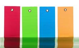 五颜六色的组标签标签 库存图片