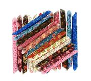 五颜六色的织品抽样种类 免版税库存照片