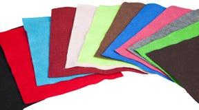 五颜六色的织品毛毡报废 库存图片