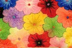 五颜六色的织品花 库存照片