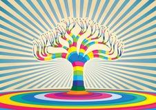 五颜六色的结构树设计 免版税库存照片