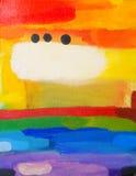 五颜六色的绘画 库存照片