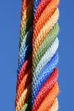 五颜六色的绳索 免版税库存图片