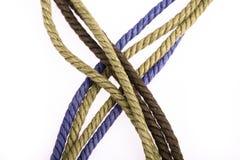 五颜六色的绳索 库存照片