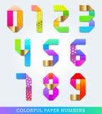 五颜六色的编号纸张 免版税库存照片