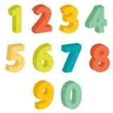 五颜六色的编号 图库摄影
