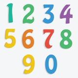 五颜六色的编号 免版税库存照片