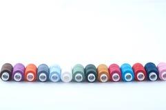五颜六色的缝合的短管轴 免版税库存照片