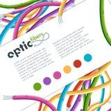 五颜六色的网络视觉纤维缆绳 图库摄影