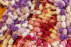 五颜六色的羊毛作为背景 免版税图库摄影