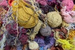 五颜六色的羊毛 免版税库存图片