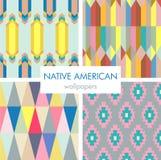 五颜六色的美国本地人样式集合 免版税库存照片
