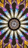 五颜六色的美国本地人神色挂毯万花筒 免版税库存图片